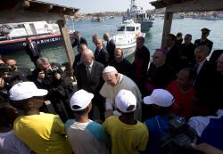 Pope at Lampedusa
